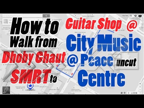 How to Walk from Dhoby Ghaut MRT to Peace Centre City Music - Uncut Footage
