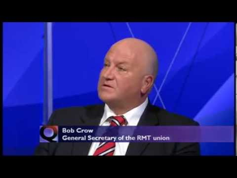 RIP Bob Crow - Labour party betrayed working people - BBC Question Time (07Mar13)