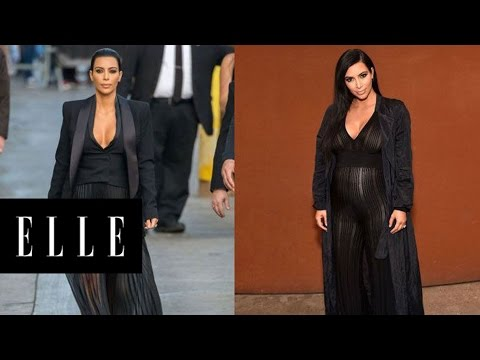 15 Times Kim Kardashian's Pregnancy Style Matched Her Non-Pregnancy Style | ELLE