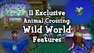 11 Exclusive Animal Crossing: Wild World Features