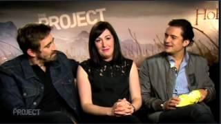 Hobbit Elves (Lee Pace, Orlando Bloom) & Guest Interviewed by Evangeline Lily