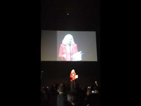 Glenn Close speaks at 1 Billion Rising