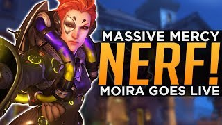 Overwatch: Moira is LIVE! - BIG Mercy NERF & Ana BUFFED!