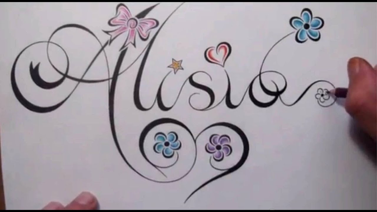 How to draw a name in fancy script writing youtube for Pretty ways to draw letters