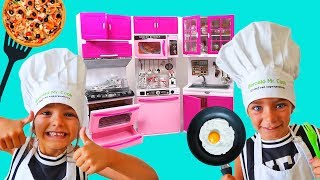 Las Ratitas Pretend Play Cooking funny Food with Kitchen Play Set