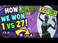 Download How We Won 1 VS 27 On Fortnite 50 VS 50! The Most EPIC WIN / CLUTCH in Fortnite Battle Royale! in Mp3, Mp4 and 3GP