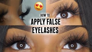 How to Apply Strip Lashes Quick & Easy | BEGINNER FRIENDLY ♡