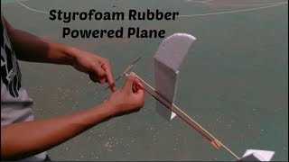 Basic rubber powered airplane tutorial| How to make a rubber band plane out of foam!