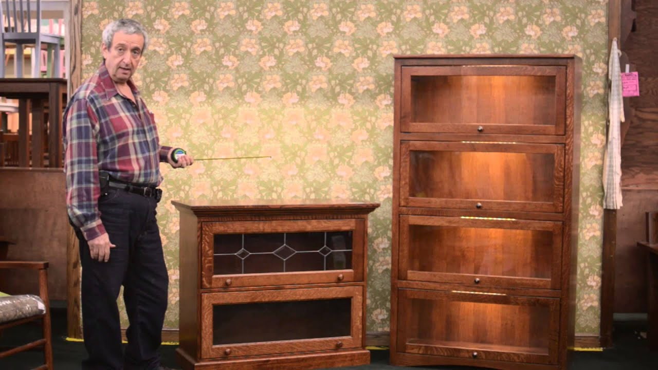 Barn Furniture - Amish Lawyer's Bookcases (Barrister Bookcases) Studio Rental - YouTube