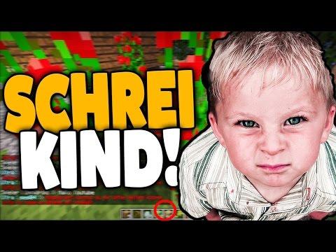 SCHREI KIDDIE KOMMT in die GUMMIZELLE - KIND RASTET IN MINECRAFT TOTAL AUS !!