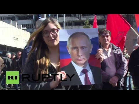 Serbia: See pro-Russia, anti-Blair protesters say NO to NATO