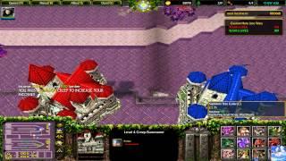 Warcraft III: Frozen Throne- Custom Hero Line Wars Gameplay