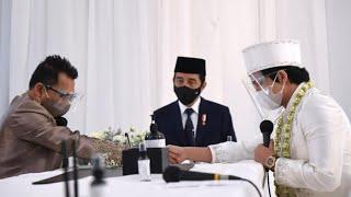 Presiden Jokowi Hadiri Pernikahan Atta Halilintar dan Aurel Hermansyah, Jakarta, 3 April 2021