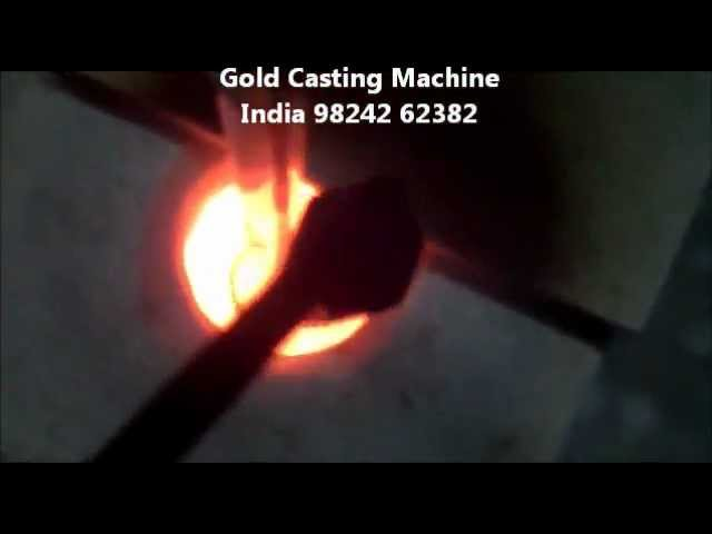 Platinum, silver & Gold Jewelry vacuum Casting (Molding) Process machine India .mp4