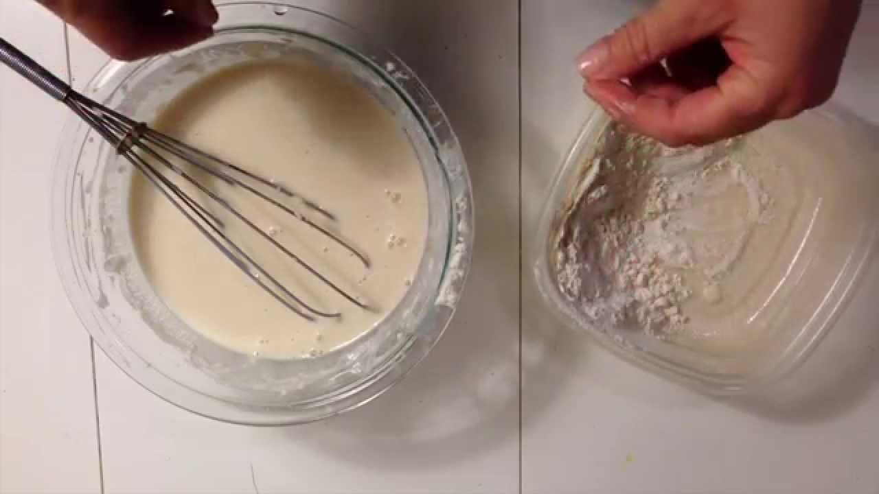 How to make paper mache paste with flour and water youtube for Homemade papier mache