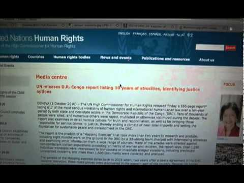 Commented reading of the UN report on Hutu Genocide in DRC