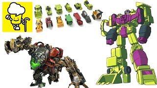 Different Devastator G1 and movie transformer toys ランスフォーマー 變形金剛