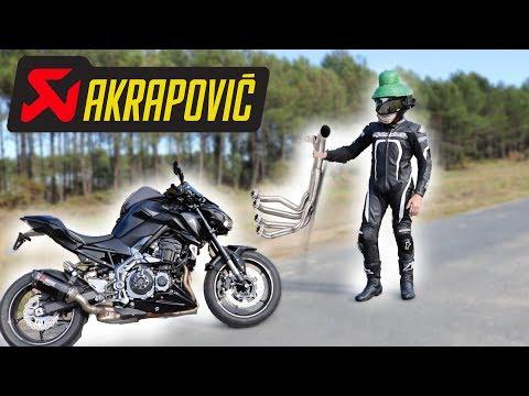 JE CHANGE LA LIGNE D'ECHAPPEMENT DE MA Z 900 Kawasaki ! BRUIT DEMONIAQUE 😈
