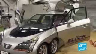 640 hp Eliica 8 wheel drive Li-ion powered Electric Vehicle 370 km/h