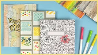 5 Easy DIY Ideas to Decorate Your Notebook Covers for Back to School