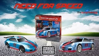 MEGA BLOKS NEED FOR SPEED Porsche 911 GT3 RS unboxing opening toys