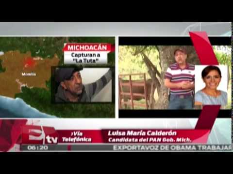 Luisa María Calderón habla sobre la captura de
