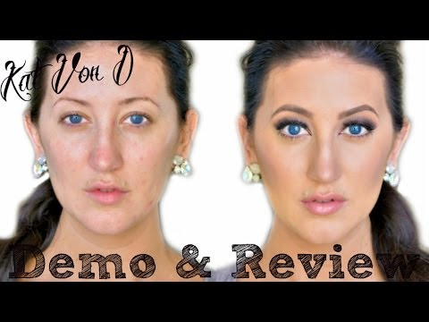 Kat Von D Lock It Tattoo Foundation Dry Skin Demo Amp Review Youtube
