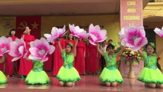 Hát múa : Tự hào nhà giáo Việt Nam - Trường TH Cổ Nhuế 2B