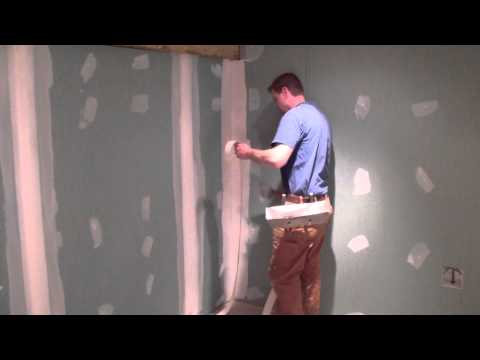 Taping drywall to the InSoFast walls