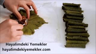 Buzluk Poşeti ile en kolay Yaprak Sarma