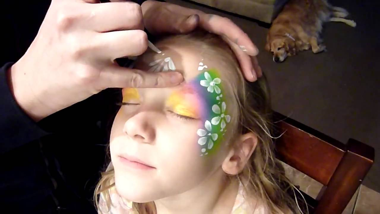 Face Painting Rainbow Designs Rainbow Flower Face Painting
