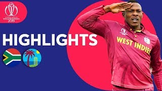 South Africa vs West Indies - Match Highlights | ICC Cricket World Cup 2019