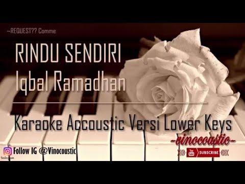 Iqbaal Ramadhan   Rindu Sendiri  Ost Dilan 1990  Karaoke Akustik Versi Lower Keys