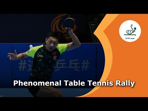 Phenomenal Table Tennis Rally