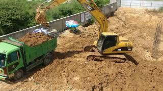 Excavator, Land Truck in Construction Site, Phnom Penh, Cambodia