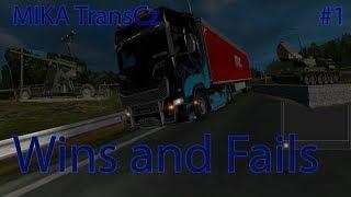 Euro Truck Simulator 2 | Truckers MP | Wins and Fail compilation | MIKA TransCz #1