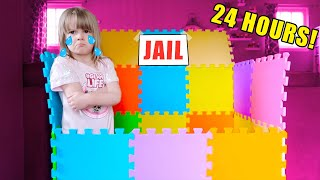 24 Hours PLAY MAT BOX FORT JAIL Challenge! 24 Hours Challenge NO L.O.L. Surprise or Ryan's World!