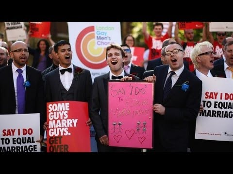 Same-sex Couples Celebrate In England | Hpl video