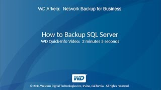 WD Arkeia: How to Backup SQL Server