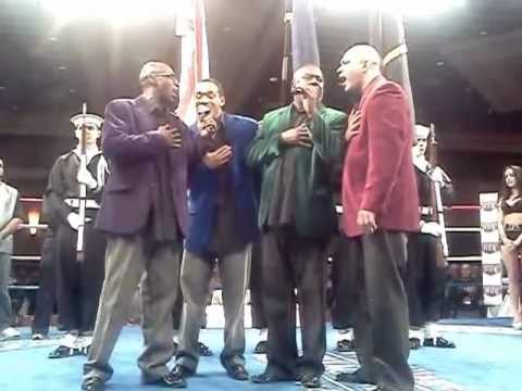 SOUL TEMPO SINGING THE NATIONAL ANTHEM @ twin rivers casino