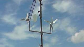 homemade windturbines on tower