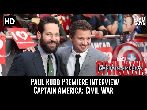 Paul Rudd Premiere Interview - Captain America: Civil War