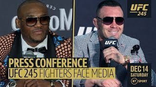 Full UFC 245 press conference | Usman v Covington, Holloway v Volkanovski, Nunes v De Randamie