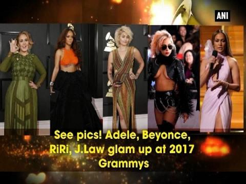 See pics! Adele, Beyonce, RiRi, J.Law glam up at 2017 Grammys - ANI #News