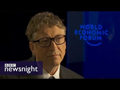 NEWSNIGHT: Jeremy Paxman challenges Bill Gates on tax