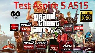 GTA V - Acer Aspire 5 A515 41G, 60FPS, High Settings