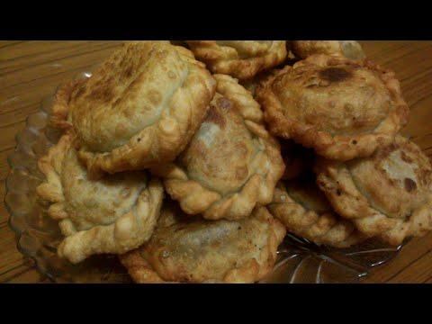 Жареные пончики с ливером!!!(быстро и вкусно!!!)