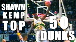 Shawn Kemp Top 50 BEST Dunks In The NBA!