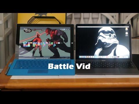 "New 12"" Macbook vs Surface Pro 3: Battle Vid"