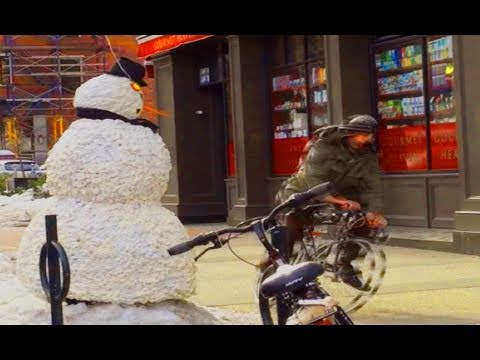 Scared guy right off his bike Prank Funny